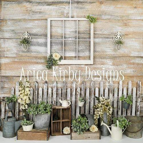 Load image into Gallery viewer, Katebackdrop£ºKate Vintage Spring Veranda backdrop designed by Arica Kirby