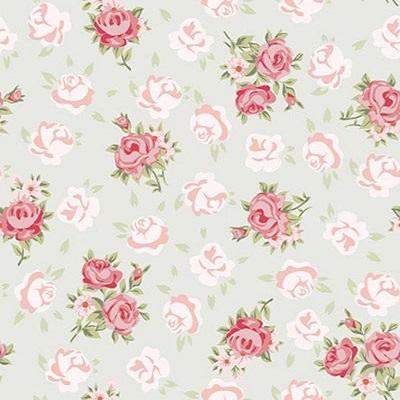 Kate Pink Flower White Background Pattern Baby Photography Backdrop