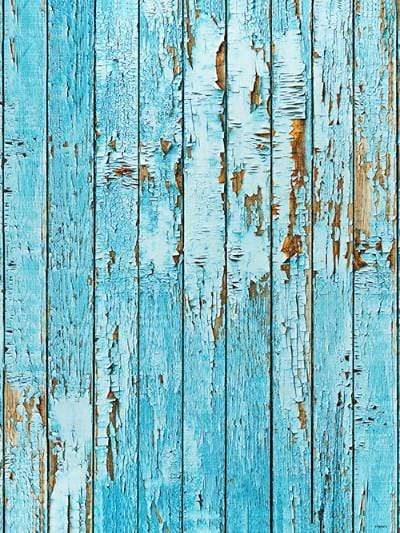 Katebackdrop:Kate Retro Style Blue Broken Wood Wall Backdrop