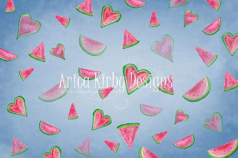 Kate Watermelon Faded Love Backdrop designed by Arica Kirby