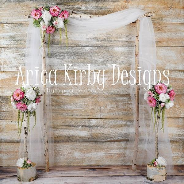 Katebackdrop£ºKate Whimsical Birch Wedding Backdrop designed by Arica Kirby