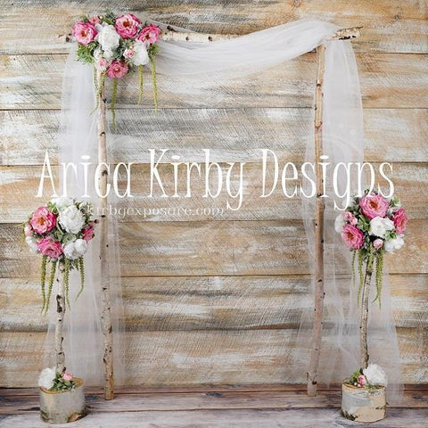 Kate Whimsical Birch Wedding Backdrop designed by Arica Kirby