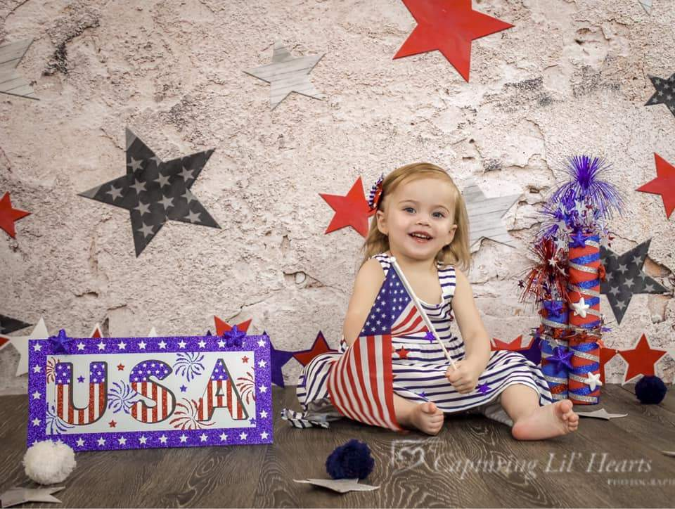 Katebackdrop£ºKate Retro Stone 4th of July Independence Day Backdrop for Photography Designed by JFCC