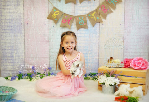 Kate Easter Colorful Wood Backdrop Photography