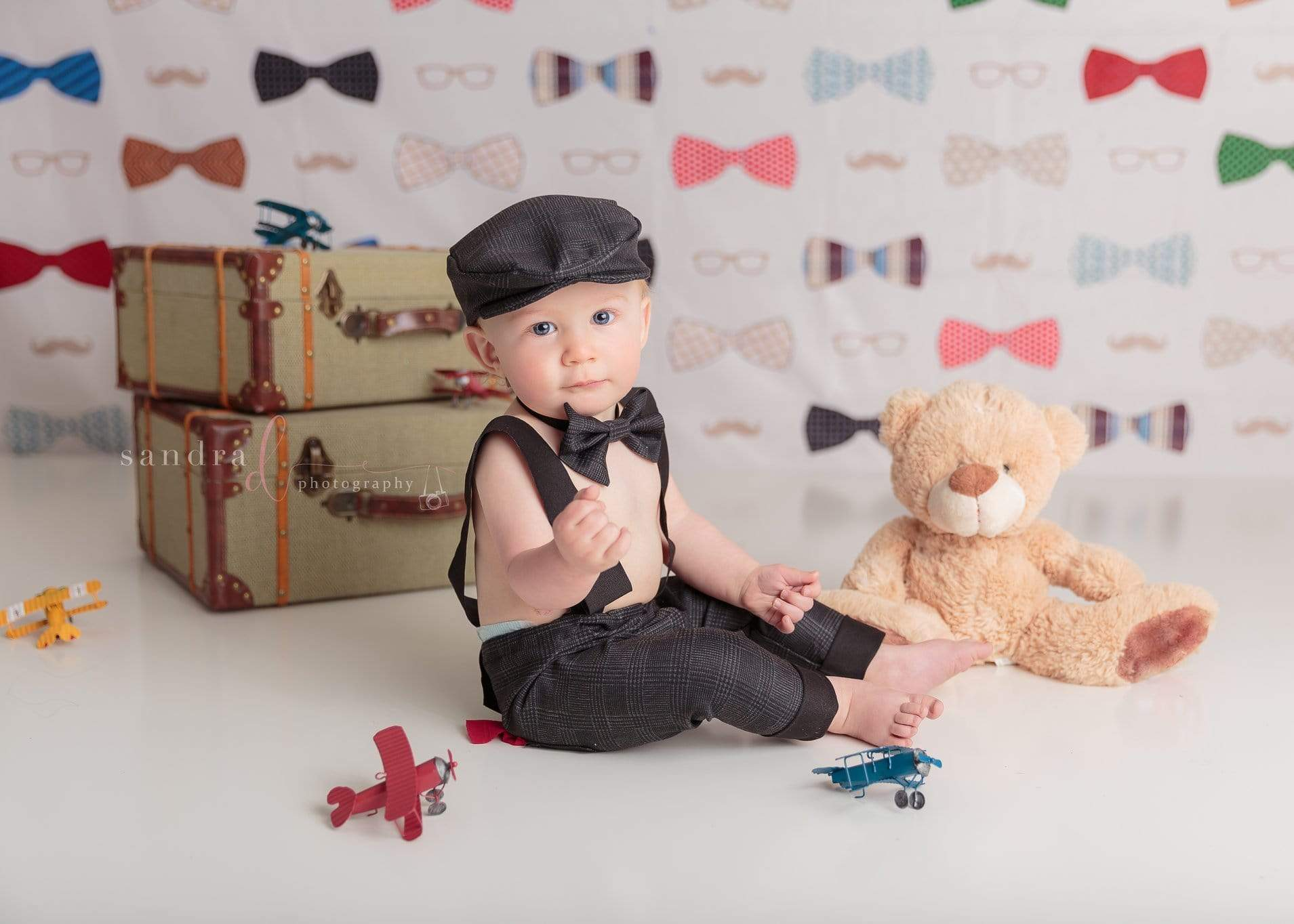 Load image into Gallery viewer, Katebackdrop£ºKate Bowties for Little Guys Father's Day Backdrop for Photography Designed by Amanda Moffatt