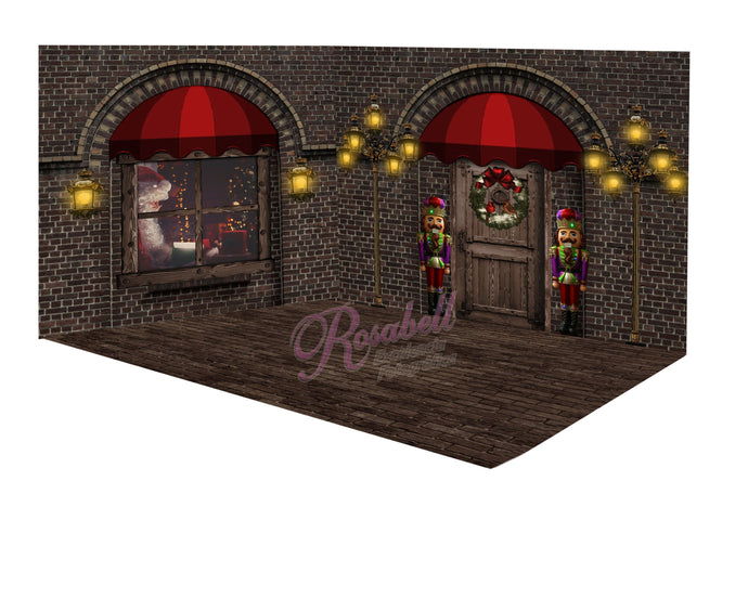 Kate Christmas Window Door Room Set Designed by Rosabell Photography