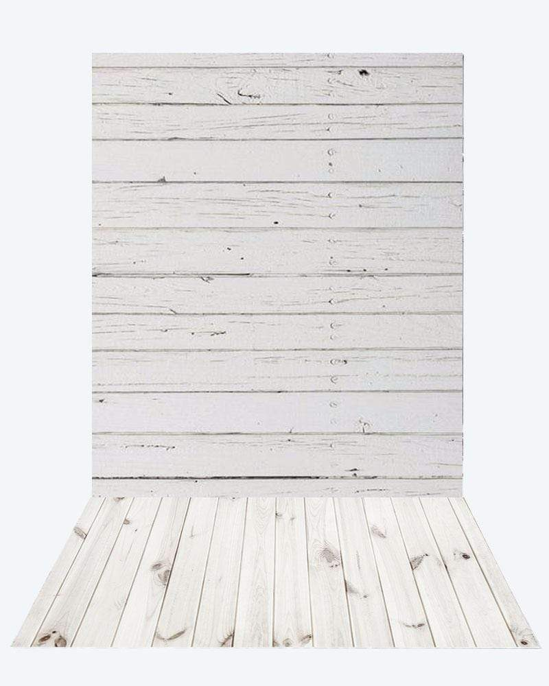 Katebackdrop¡êoKate retro milk wood background + White floor mat