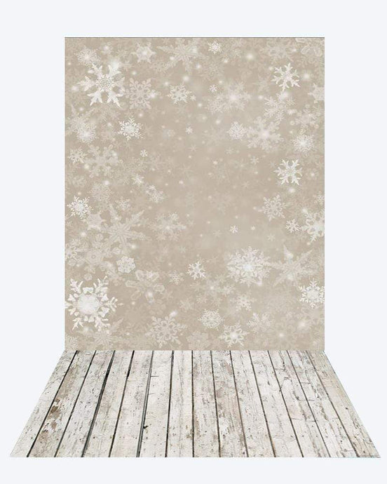 Katebackdrop¡êoKate Snow Backdrop for Photography +White wood floor mat