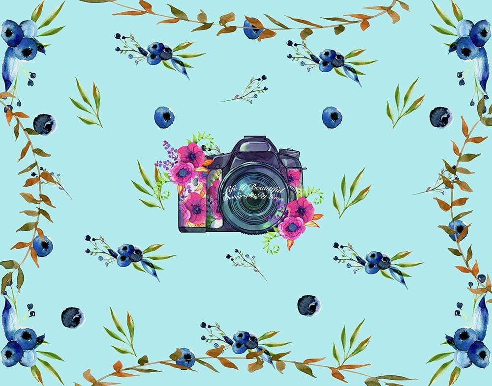 Load image into Gallery viewer, Katebackdrop:Kate Blueberries Summer Backdrop for Photography Designed By Leann West