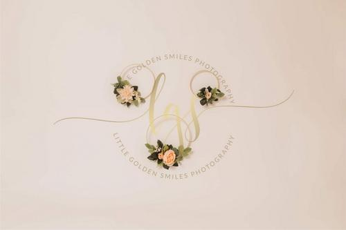 Katebackdrop:Kate Floral Hoops in White Backdrop Designed By Little Golden Smiles Photography