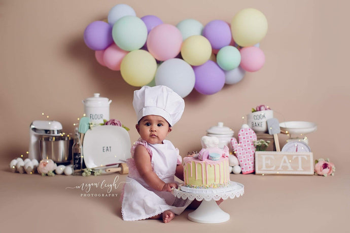 Katebackdrop:Kate Birthday Cake Smash Baker Children Backdrop Designed by Megan Leigh Photography