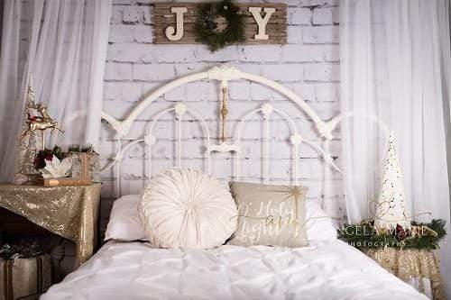 Load image into Gallery viewer, Katebackdrop£ºKate Christmas Headboard Mattress Backdrop Designed By Angela Marie Photography