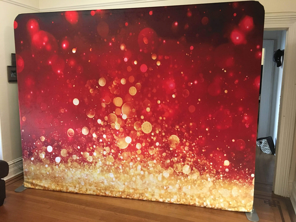 Katebackdrop:Kate Bokeh Christmas Festival Party Photography Backdrop Red Glittering Holiday