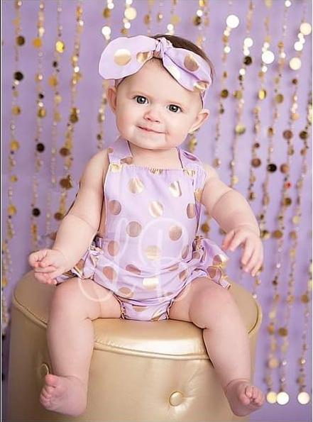Load image into Gallery viewer, Katebackdrop:Kate Purple Gold Dots Children Backdrop for Photography Designed by Lisa B