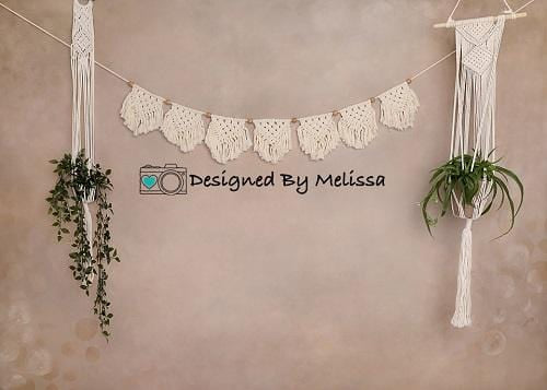 Kate Boho Plants Backdrop Designed by Melissa King