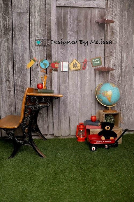 Kate Back to School Backdrop Backyard Designed by Melissa King