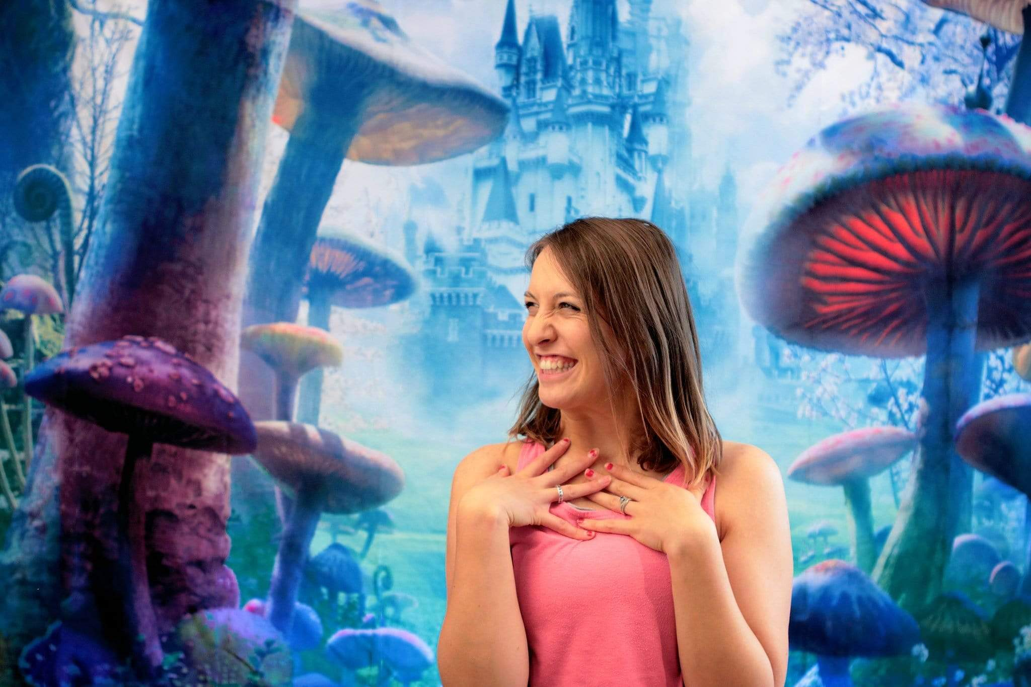 Load image into Gallery viewer, Katebackdrop:Kate Forest Alice wonderland Castle Photography Backdrops