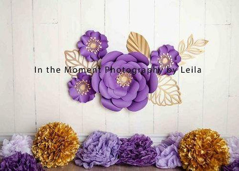 Kate Purple Elegance Floral Backdrop for Photography Designed By Leila Steffens