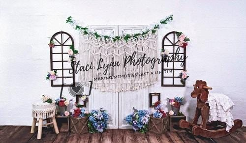 Kate Floral Macramé Backdrop Designed By Stacilynnphotography