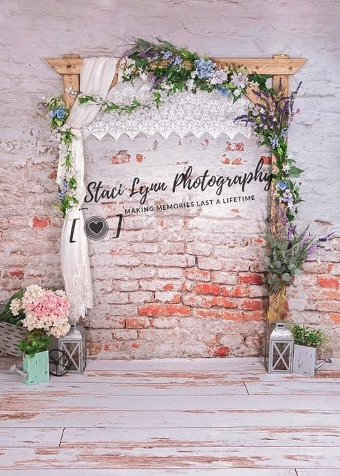 Kate Mother's Day Floral Arch Backdrop Designed by Stacilynnphotography