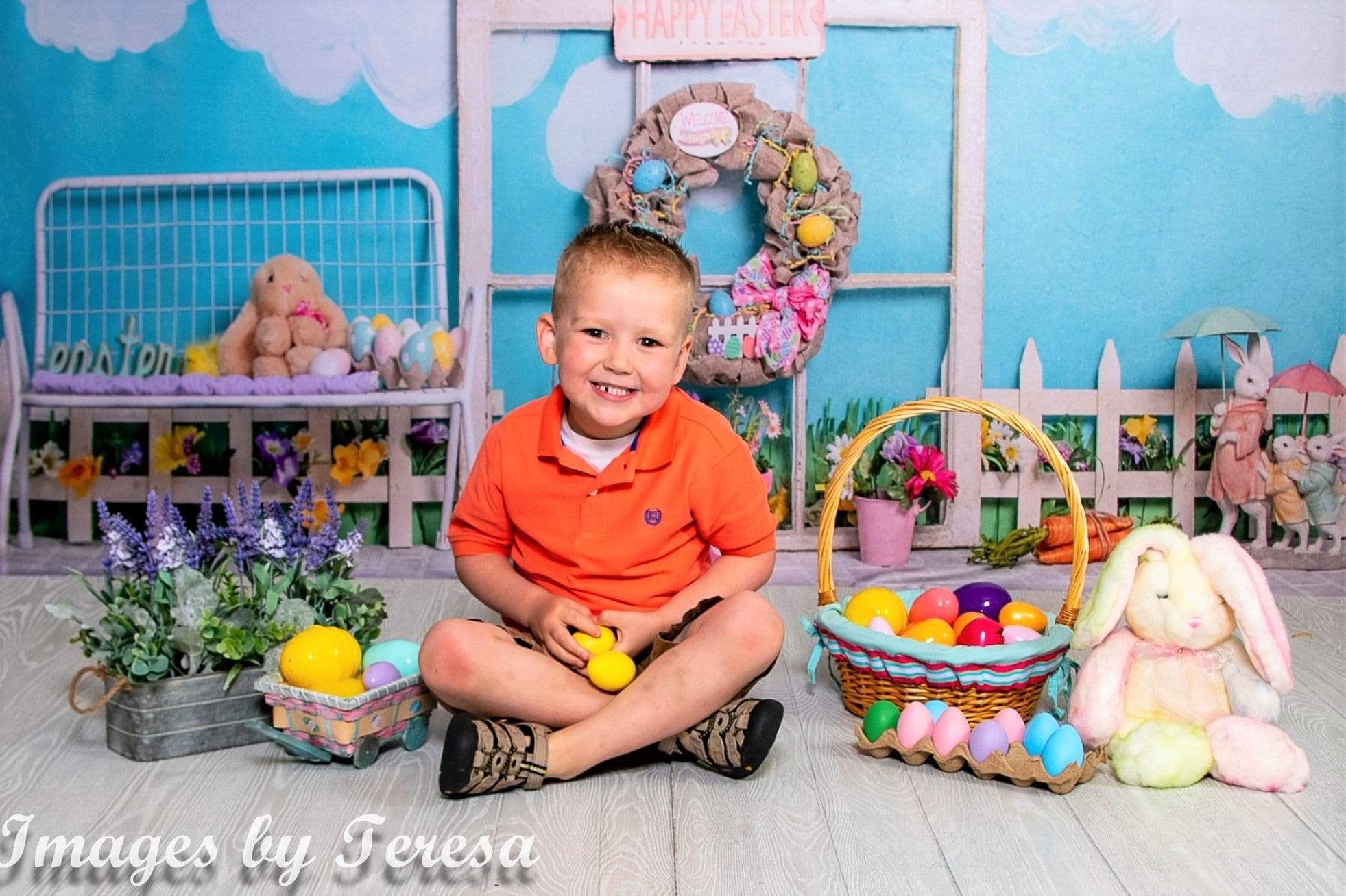 Load image into Gallery viewer, Katebackdrop£ºKate Rabbits Decorations Easter Spring Children Backdrop for Photography Designed by Erin Larkins