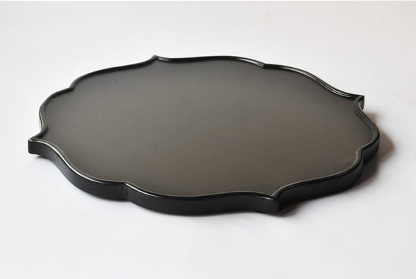 Mehrab Wooden Platter – Charcoal