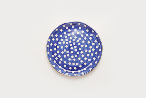 "Polka Club 7"" Plate - Blue"