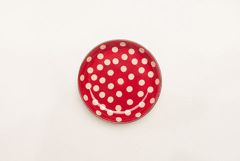 "Polka Petite 4"" Plate - Red"