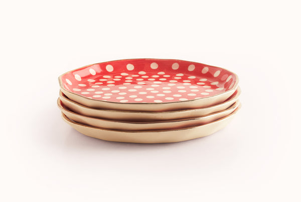 "Polka Superior 8"" Plate - Red"