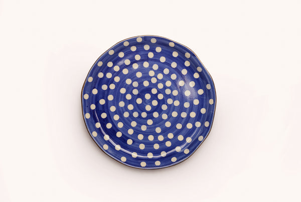"Polka Superior 8.5"" Plate - Blue"