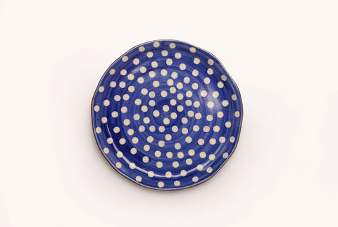 "Polka Superior 8"" Plate - Blue"