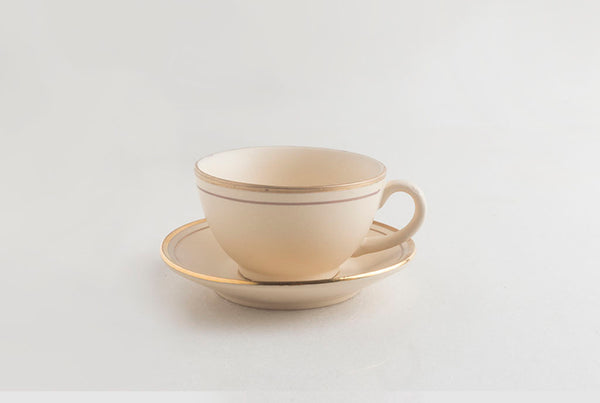 Tea Cup & Saucer - Snow Almond