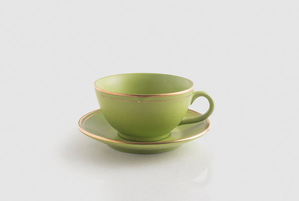 Tea Cup & Saucer - Amazon Green