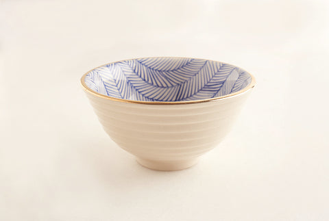 Chevron Blue Soup Bowl