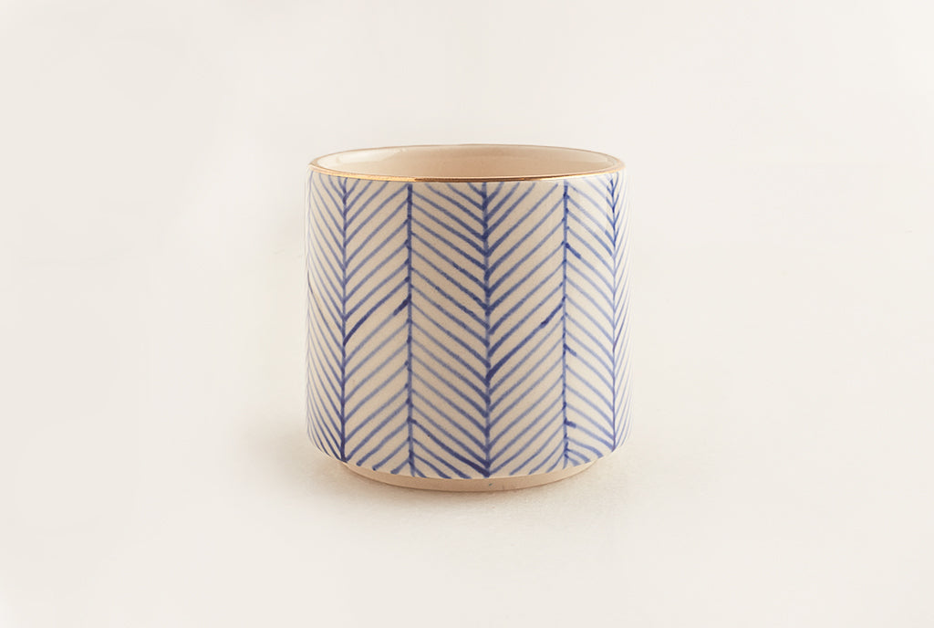 Chevron Tumbler - Blue