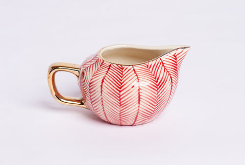 Chevron Milk Pot – Red