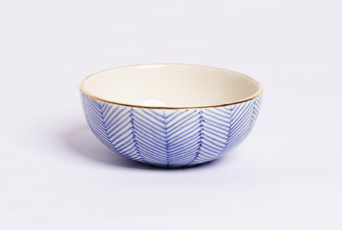Chevron Petit Bowl – Blue