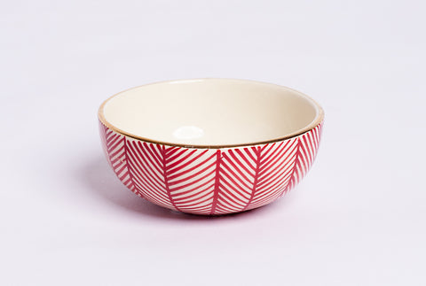 Chevron Petit Bowl – Red