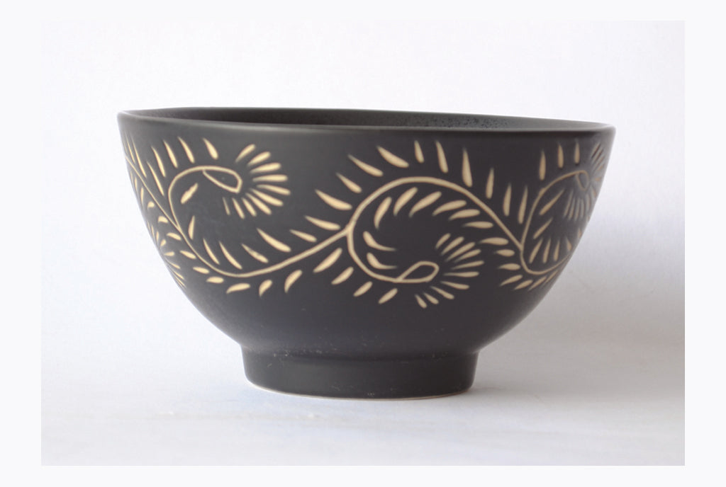 Henna Meal Bowl - Matte Black