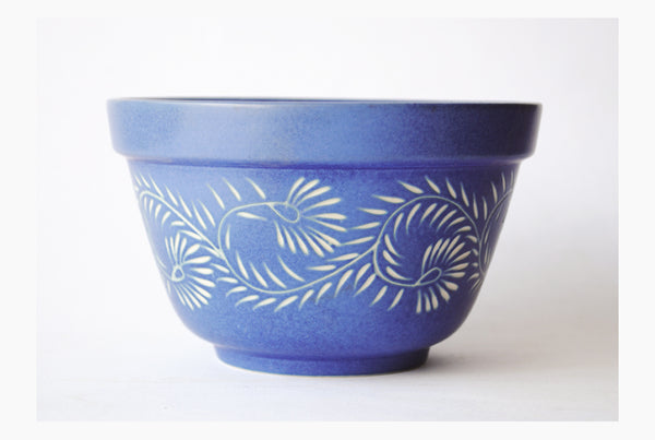 Henna Salad Bowl- Matte Blue