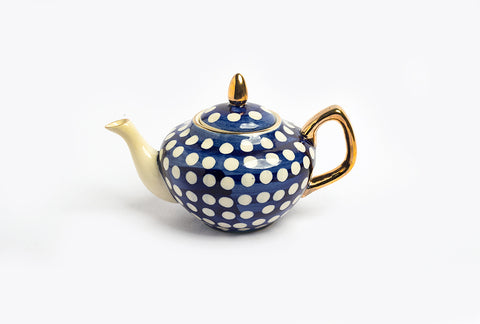 Polka Family Teapot – Blue