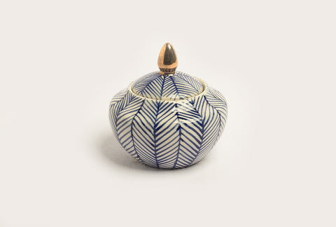 Chevron Sugarpot - Blue