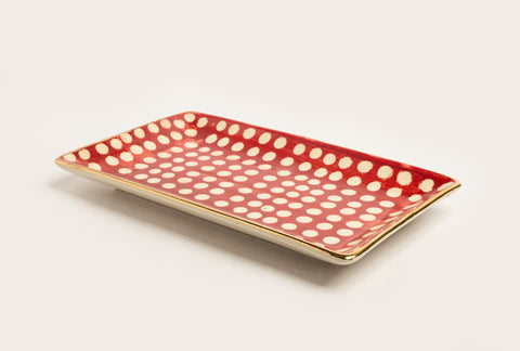 Polka Large Classic Suite Platter – Red