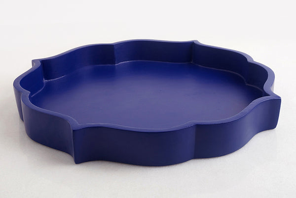 Mehrab Wooden Tray – Azure