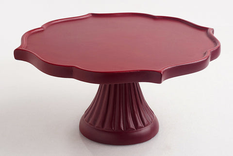 Mehrab Wooden Cake Stand – Marsala