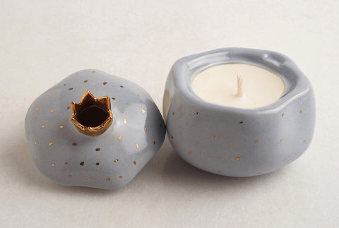 Pomegranate Lime Vanilla Candle – Powder Blue