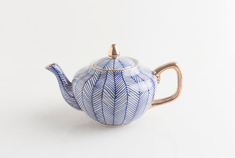 Chevron Teapot - Blue