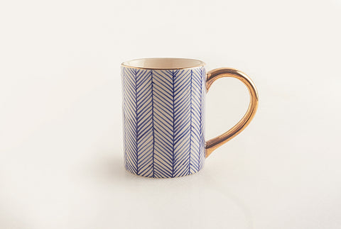 Chevron Mug - Blue