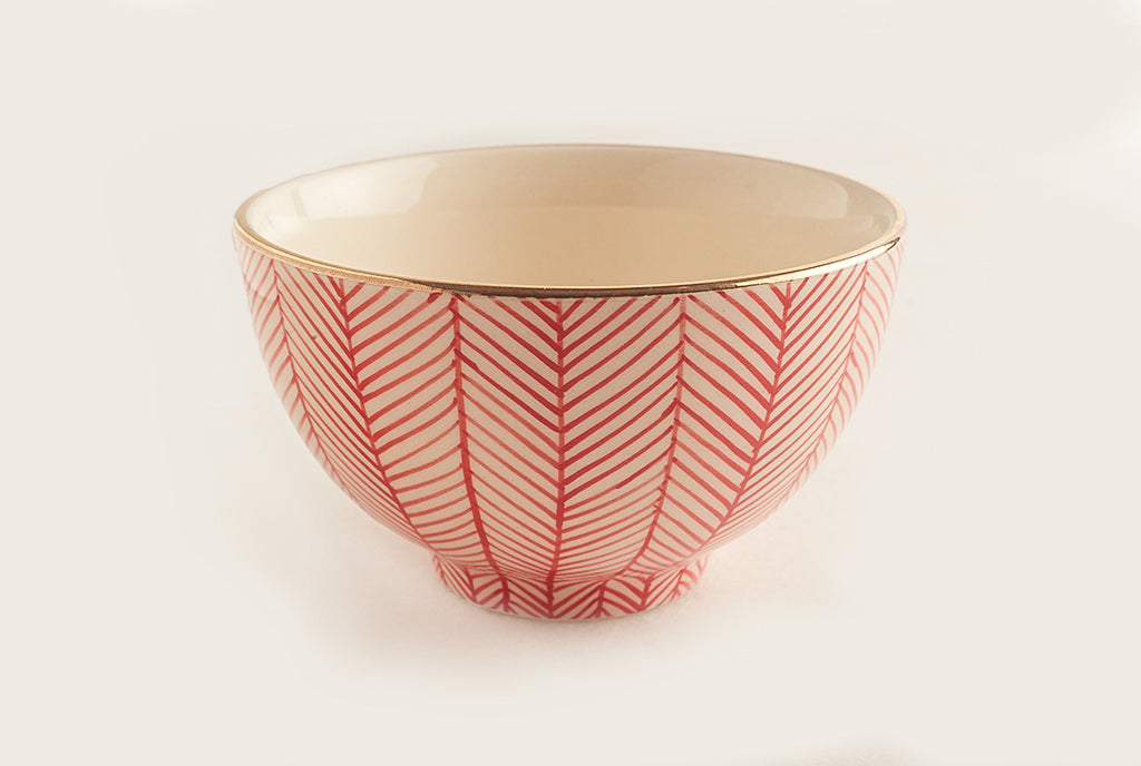 Chevron Red Meal Bowl
