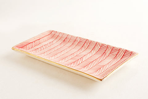 Chevron Red Platter